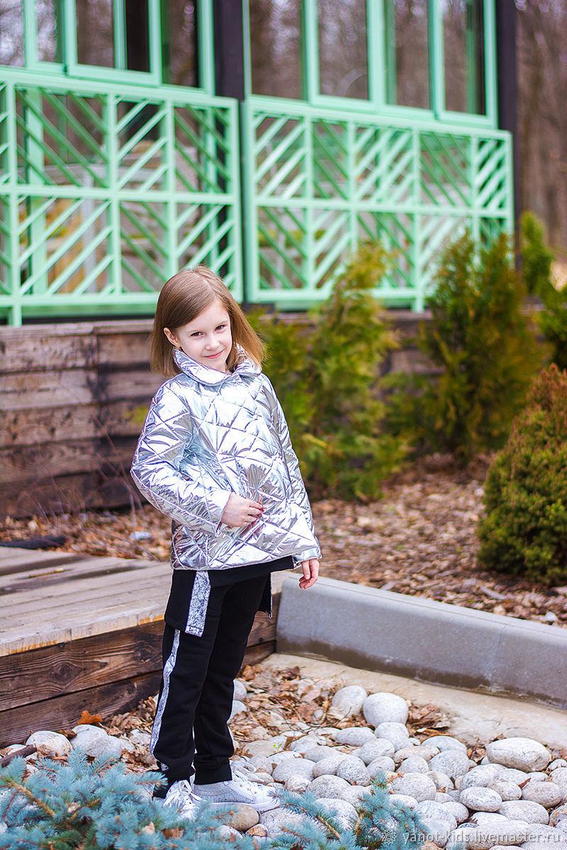 """Одежда для девочек, ручной работы. Ярмарка Мастеров - ручная работа. Купить Куртка """"Металлик"""" Серебро. Handmade. Для девочки"""