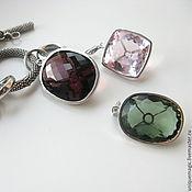 Украшения handmade. Livemaster - original item Pendant/pendant with amethyst, green amethyst, kunzite. For bracelet.. Handmade.