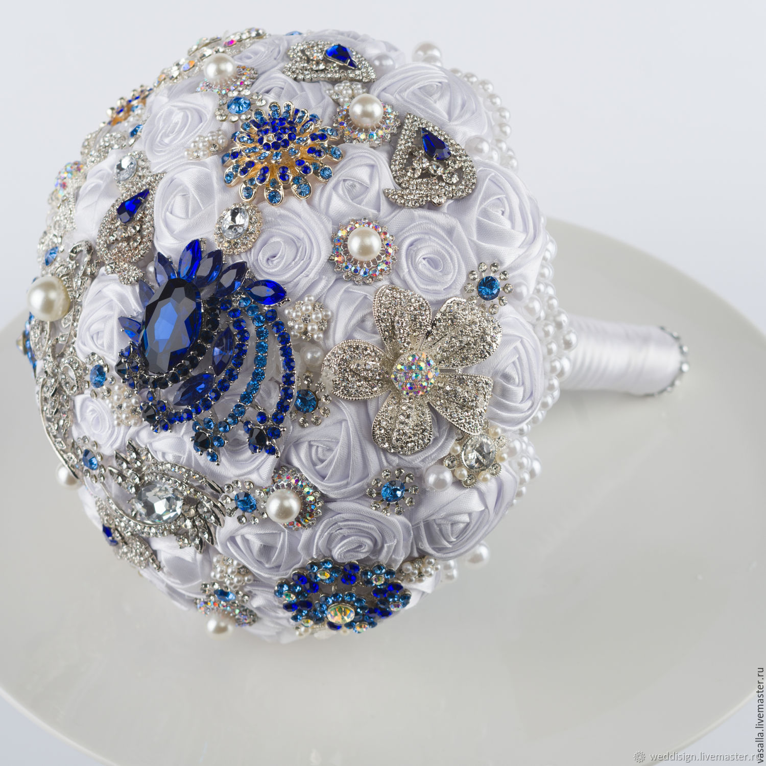 Brooch-Bouquet ' Diana'. White wedding brooch bouquet, Wedding bouquets, Moscow,  Фото №1