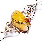 handmade. Livemaster - original item Bracelet with amber