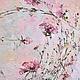 тюльпаны, нежная легкая весенняя воздушная розовая нежно розовая картина маслом на холсте с подрамником для интерьера в стиле шебби шик, романтика, беби дол, бохо, винтаж, в гостиную, кухню, спальню,