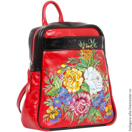 """Женские сумки ручной работы. Ярмарка Мастеров - ручная работа. Купить Рюкзак """"Букет"""". Handmade. Сумка, стильная сумка, цветы"""