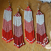 handmade. Livemaster - original item Bead earrings