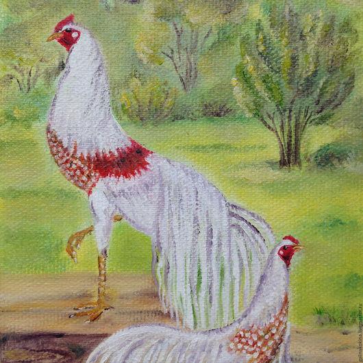 Картина Дивный сад . Холст на оргалите, масло,15х20  см. Стоимость   оформления учтена.