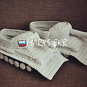 """Обувь ручной работы. Ярмарка Мастеров - ручная работа Тапочки """"Танки"""". Handmade."""