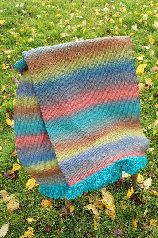 Текстиль, ковры ручной работы. Ярмарка Мастеров - ручная работа. Купить Шерстяноe покрывало. Handmade. Разноцветный, ручная работа