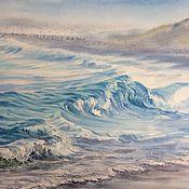 Картины и панно handmade. Livemaster - original item Paintings: watercolor painting Stormy. Handmade.