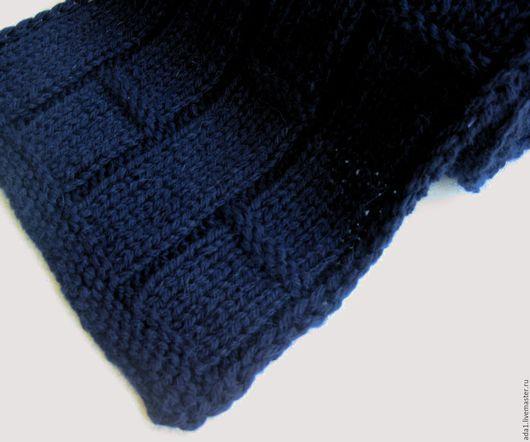 """Шарфы и шарфики ручной работы. Ярмарка Мастеров - ручная работа. Купить """"Кобальт"""" мужской женский шарф ручной вязки. Handmade."""