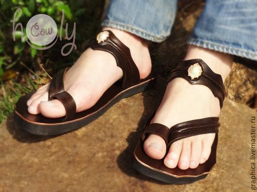 """Обувь ручной работы. Ярмарка Мастеров - ручная работа. Купить Кожаные сандалии """"Classic Asia"""". Handmade. Коричневый, обувь для улицы"""