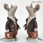 """Tilda Toys handmade. Livemaster - original item Mouse """"Boss"""", rag toys, gift to the boss. Handmade."""
