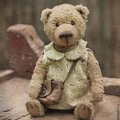 Куклы и игрушки ручной работы. Ярмарка Мастеров - ручная работа Фрося Горчицина - мишка Тедди  девочка в платье с сумочкой. Handmade.