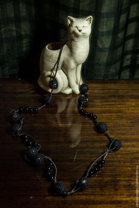 Колье, бусы ручной работы. Ярмарка Мастеров - ручная работа. Купить Бусы-бубенчики (handmade). Handmade. Черный