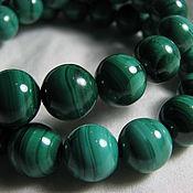 Материалы для творчества handmade. Livemaster - original item Natural malachite beads, African. Zaire, 12 mm. Handmade.