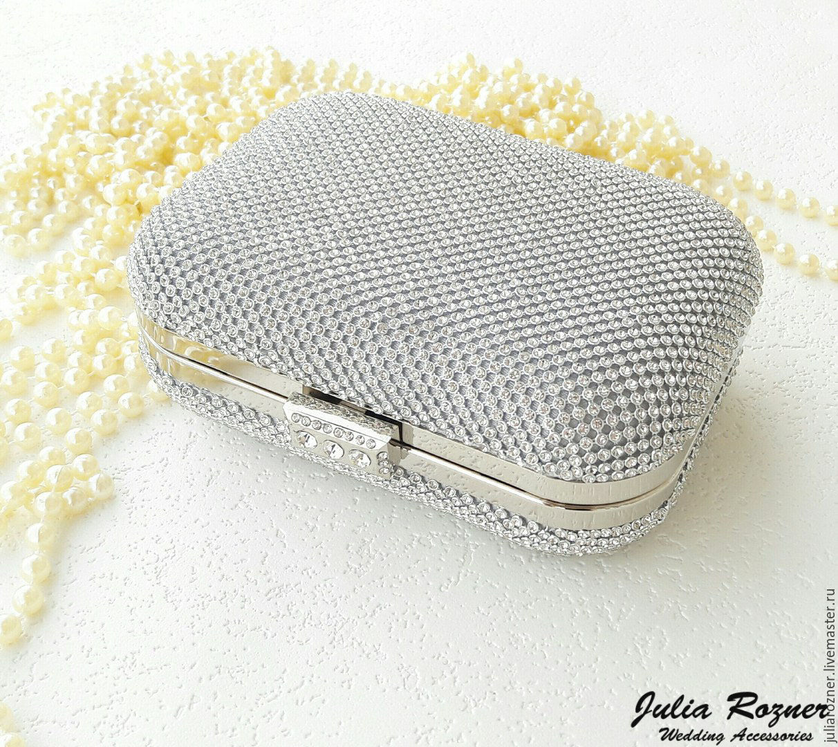Evening Silver Clutch Bag Silver Bridal Clutch U2013 Shop Online On Livemaster With Shipping ...