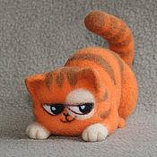Куклы и игрушки ручной работы. Ярмарка Мастеров - ручная работа Котик Персик (игрушка из шерсти). Handmade.