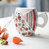 Посуда handmade. Livemaster - original item Flower meadow. Cup handmade ceramics. Handmade.