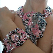 """Украшения ручной работы. Ярмарка Мастеров - ручная работа Комплект"""" Фламинго"""". Handmade."""