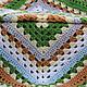 Текстиль, ковры ручной работы. Плед из больших квадратов Лесной. Домовенок. Ярмарка Мастеров. Интерьер, спальня, загородный дом, шерсть