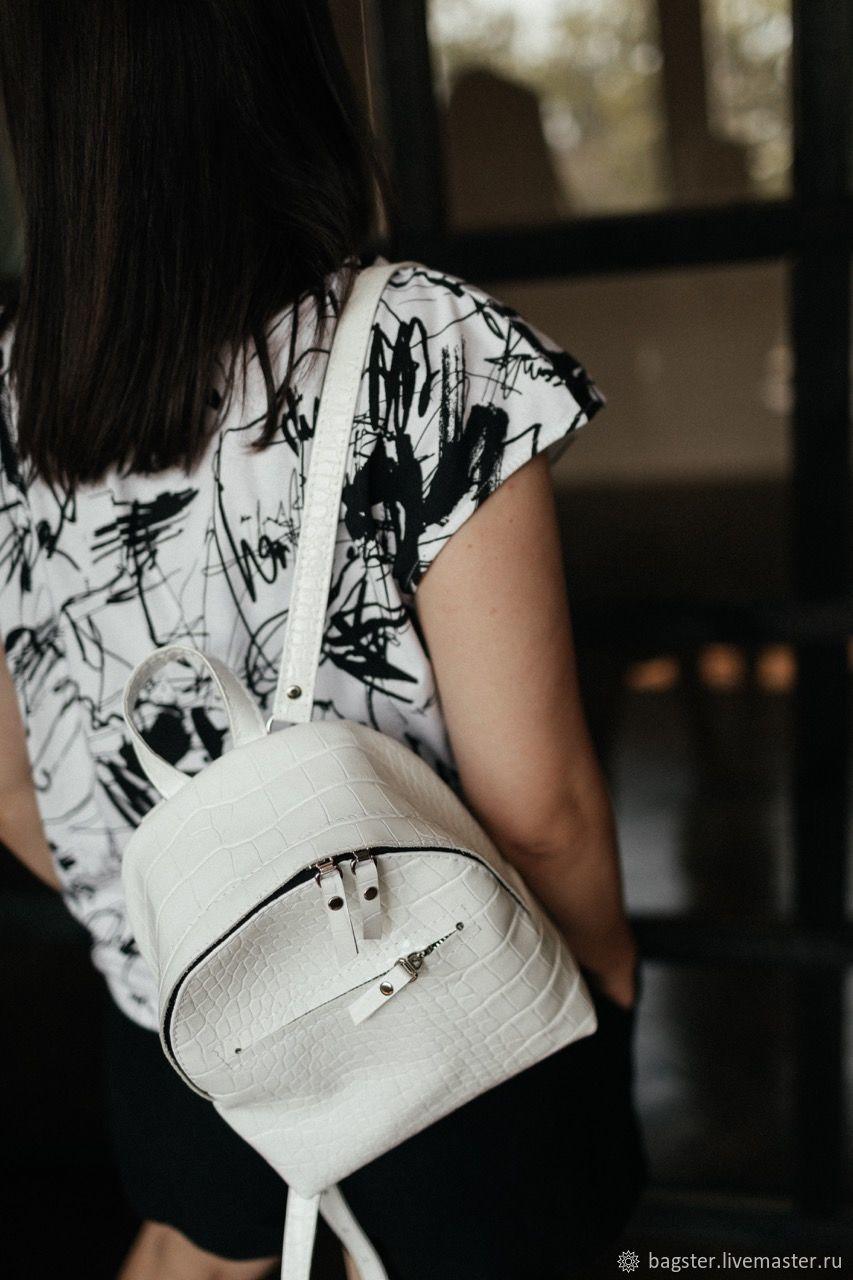 Кожаный городской рюкзак Croco, вместительный рюкзак из кожи, Рюкзаки, Кривой Рог,  Фото №1