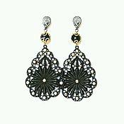 Украшения handmade. Livemaster - original item Drop earring with agate. Handmade.