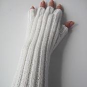 Аксессуары ручной работы. Ярмарка Мастеров - ручная работа Митенки с пальчиками. Handmade.