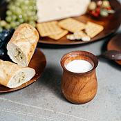 Посуда handmade. Livemaster - original item Glass for cream and milk from natural wood Siberian Cedar #C26. Handmade.