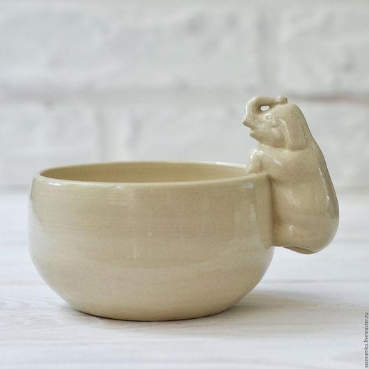 """Кружки и чашки ручной работы. Ярмарка Мастеров - ручная работа. Купить Кружка """"Слон"""" (белая). Handmade. Белый"""