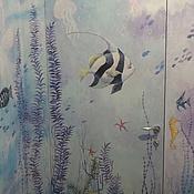 Дизайн и реклама ручной работы. Ярмарка Мастеров - ручная работа Роспись шкафа и двери. Handmade.