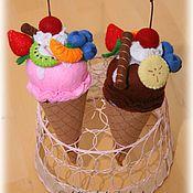 Куклы и игрушки ручной работы. Ярмарка Мастеров - ручная работа Мороженое-конструктор на липучках из фетра. Handmade.