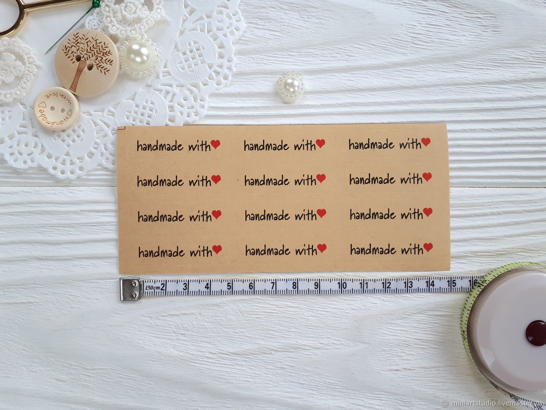 Наклейки  для декора Handmade with love, Упаковка, Дмитров, Фото №1