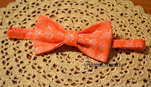 Галстуки, бабочки ручной работы. Ярмарка Мастеров - ручная работа. Купить галстук-бабочка Оранжевая. Handmade. Оранжевый, цветочный
