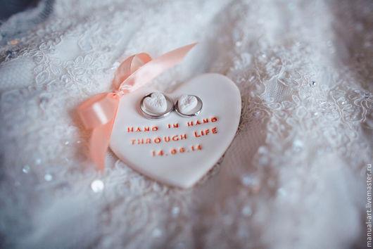 """Свадебные аксессуары ручной работы. Ярмарка Мастеров - ручная работа. Купить Тарелочка для колец """"сердце"""" 87. Handmade. Кремовый"""