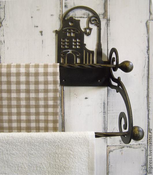 Ванная комната ручной работы. Ярмарка Мастеров - ручная работа. Купить Вешалка для полотенец Ночь улица фонарь аптека. Handmade.