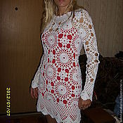 Одежда handmade. Livemaster - original item White tunic dress. Handmade.