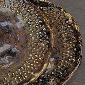 Посуда ручной работы. Ярмарка Мастеров - ручная работа Тарелка  Исландия Земля. Handmade.