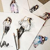 Дизайн и реклама ручной работы. Ярмарка Мастеров - ручная работа Отрисовка моделей. Handmade.