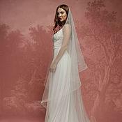 Свадебный салон ручной работы. Ярмарка Мастеров - ручная работа Свадебная фата невесты, белая фата, молочная фата A-1(3). Handmade.