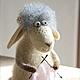 Игрушки животные, ручной работы. Ярмарка Мастеров - ручная работа. Купить Овечка Циля. Handmade. Валяние из шерсти, валяная овечка