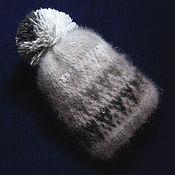 Работы для детей, handmade. Livemaster - original item Children`s knitted hat with pompom. Handmade.