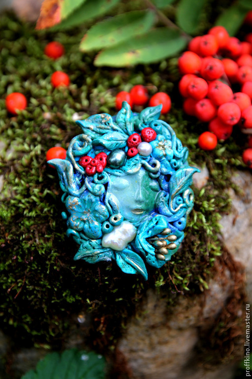 """Броши ручной работы. Ярмарка Мастеров - ручная работа. Купить брошь """"Bambina autunno"""". Handmade. Морская волна, брошь цветы"""