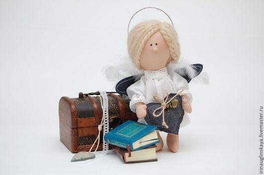 Милашка с крыльями, ангел девочка, текстильная кукла