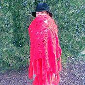 """Аксессуары ручной работы. Ярмарка Мастеров - ручная работа Шаль """"Огненный цветок"""". Handmade."""