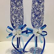 Свадебный салон ручной работы. Ярмарка Мастеров - ручная работа свадебные бокалы роспись. Handmade.
