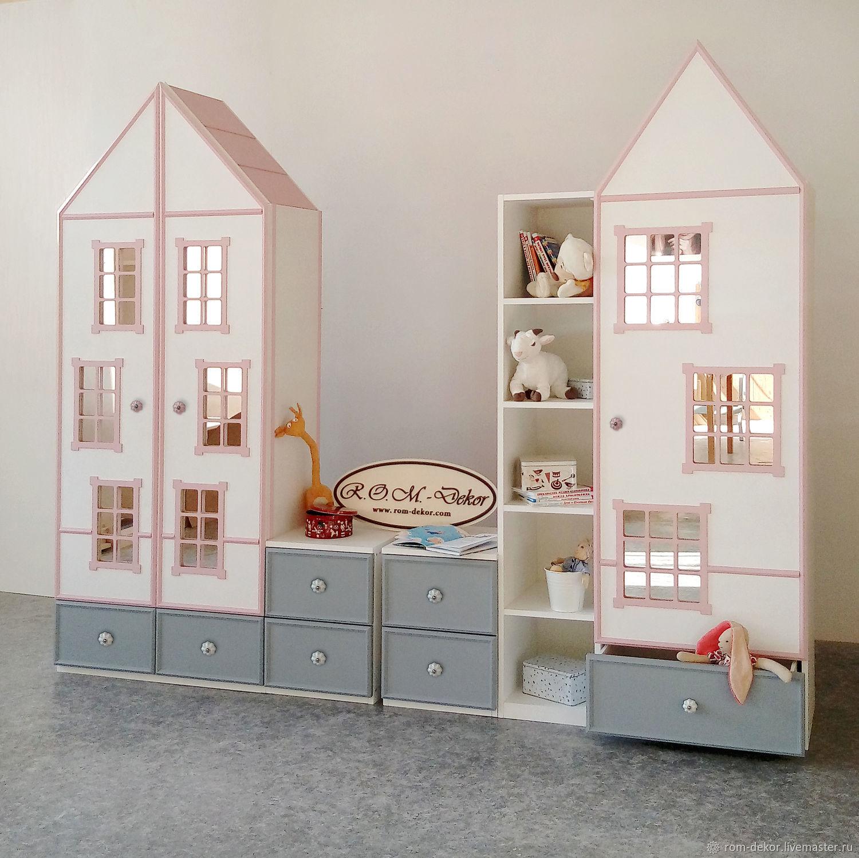 Комплект детских шкафов-домиков с подсветкой, Шкафы, Новочеркасск,  Фото №1