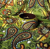 """Аксессуары ручной работы. Ярмарка Мастеров - ручная работа Платок и браслет """"В зеленом саду"""". Handmade."""