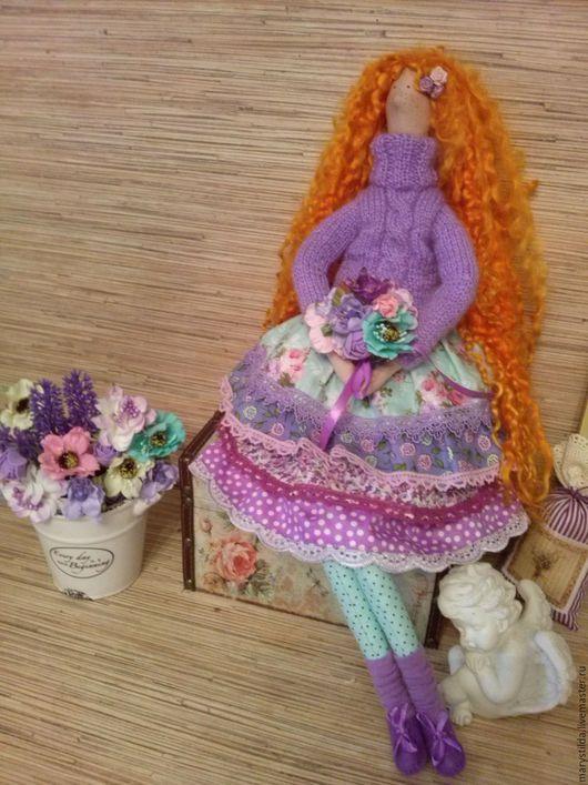 Куклы Тильды ручной работы. Ярмарка Мастеров - ручная работа. Купить Кукла тильда рыжая Дженни. Handmade. Сиреневый, тильда