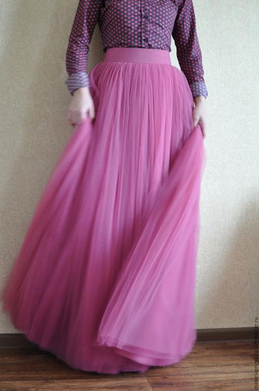 Пышная юбка из фатина в пол своими руками