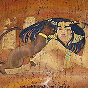 Аксессуары handmade. Livemaster - original item Silk scarf based on the painting by the Egyptian artist. Handmade.