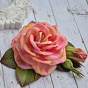 handmade. Livemaster - original item Brooch hairpin with a rose Dream. Handmade.