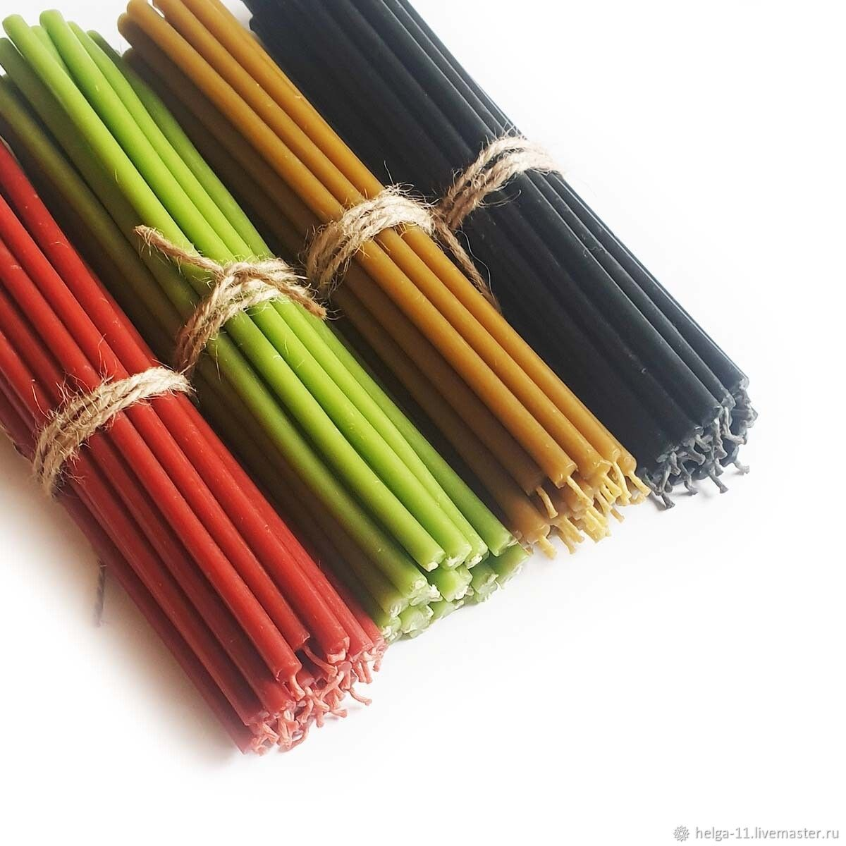 Wax candles of 4 colors - 100 pieces, Ritual candle, St. Petersburg,  Фото №1